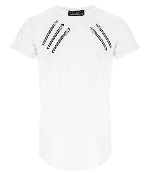 celebry tees t-shirt blanc